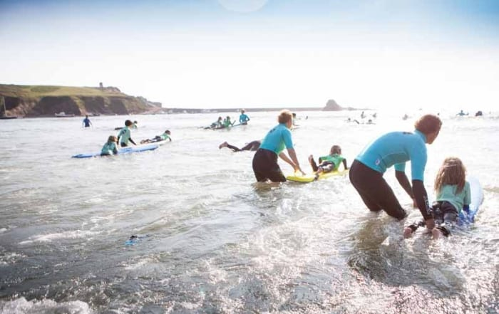 Children's surf lessons in Bude
