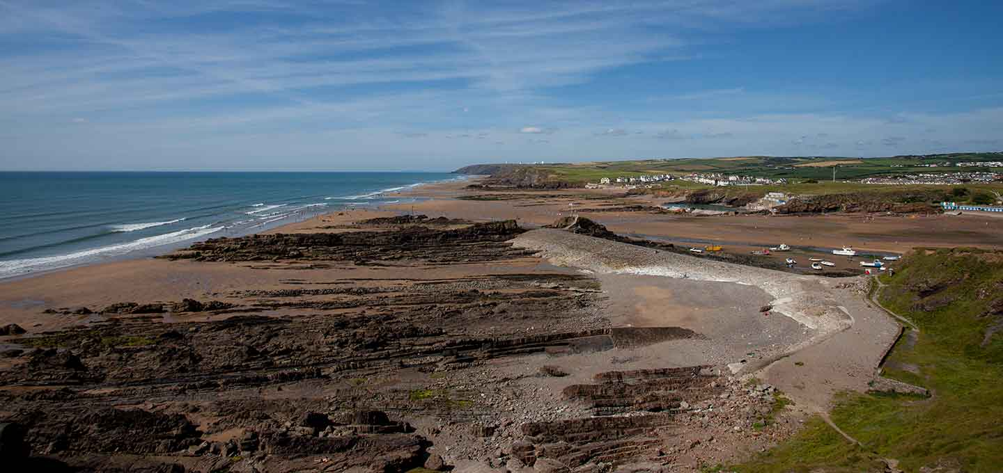 Efford Down and Summerleaze Beach in Bude