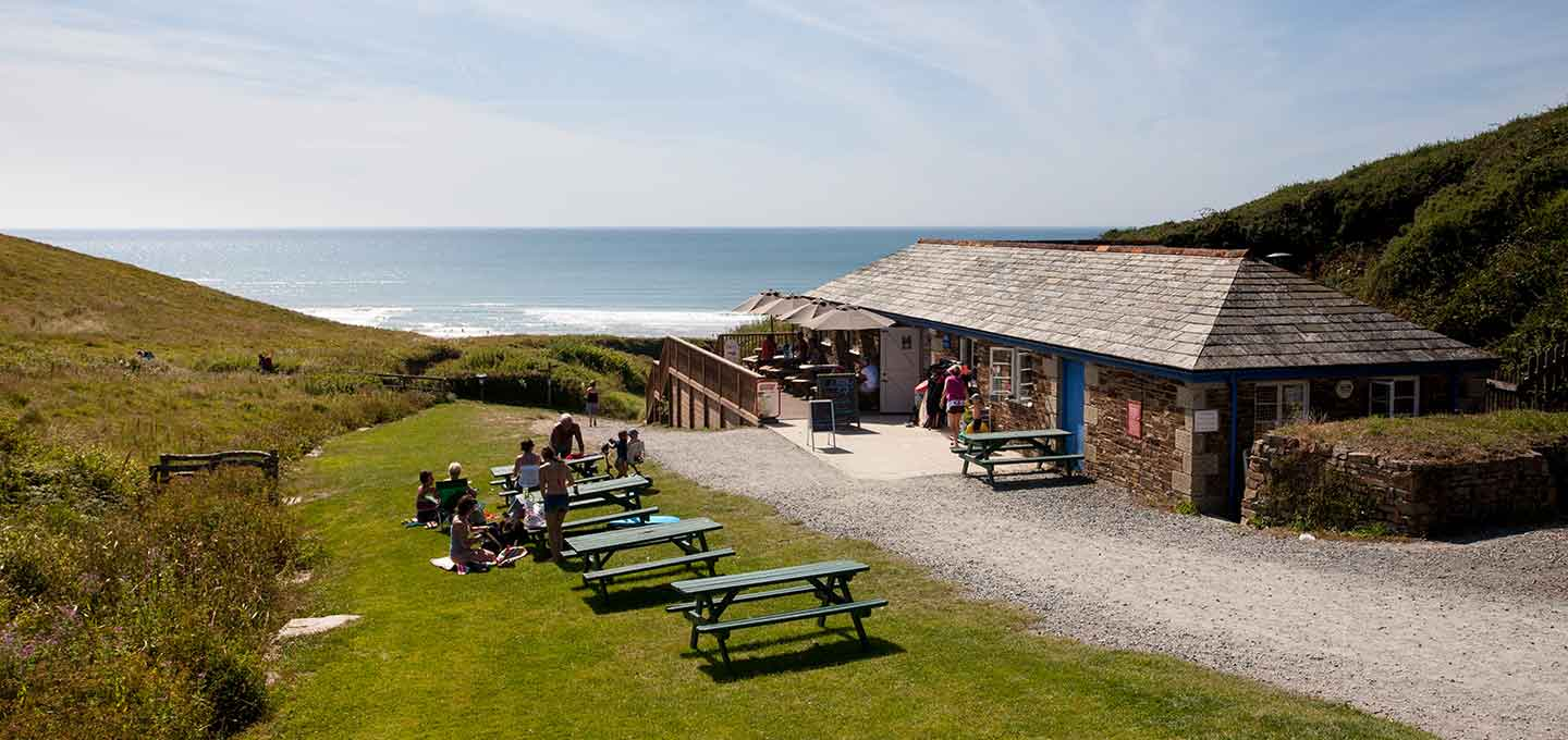 Sandy mouth Beach Cafe in Bude